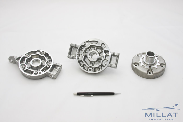 CNC Machined Aluminum A/C Compressor Housing