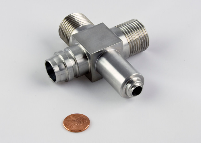 CNC Machined Stainless Steel Aerospace Fitting